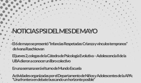 Noticias de Psicoanálisis del mes de Mayo en Rodulfos