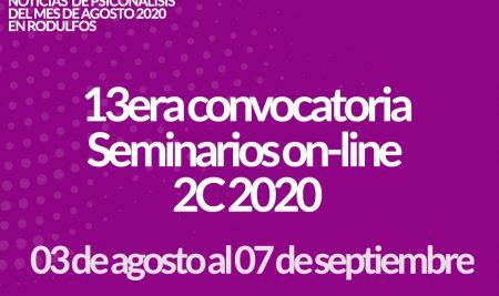 Seminarios Online 2C 2020 13era convocatoria
